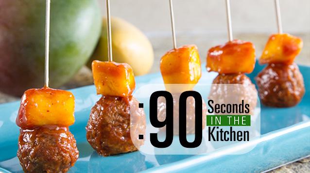 90 Second Chipotle Mango Meatballs