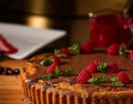 Chocolate Caffeine Cake with Chocolate Brandy Ganache