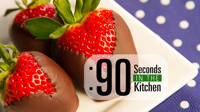 90 Second Chocolate Dipped Strawberries