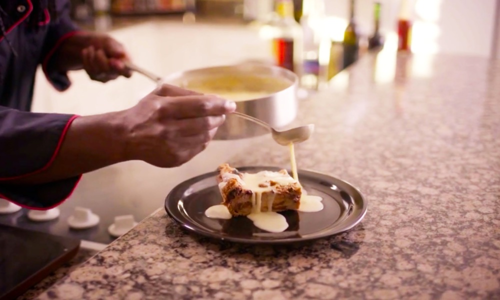 A great way to save leftover, going-stale, bread from being wasted by making bread pudding! This recipe is an insanely delicious twist on traditional bread pudding, made with chocolate and Kahlua coffee liquor and drizzled with a homemade Irish Whiskey Butterscotch Cream Sauce!