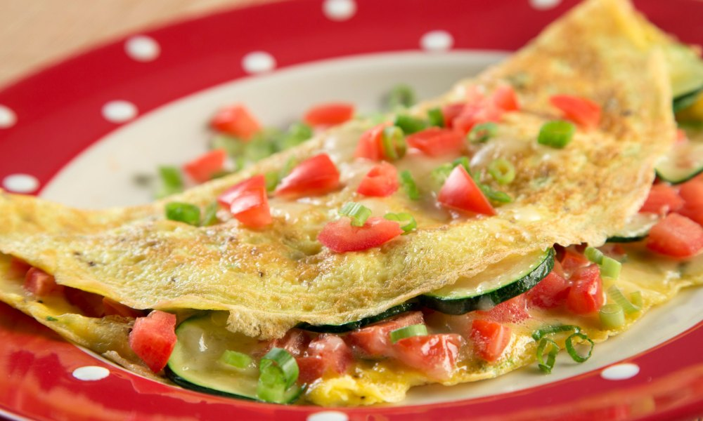 Classic Cheese and Veggie Omelet