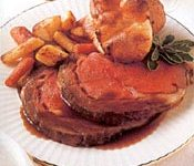 Classic Prime Rib with Red Wine-Blackberry Sauce