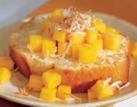Coconut Cake with Mango