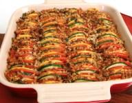 Colorful Squash and Tomato Gratin