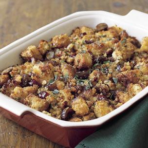 Corn-Bread Dressing with Chestnuts Recipe