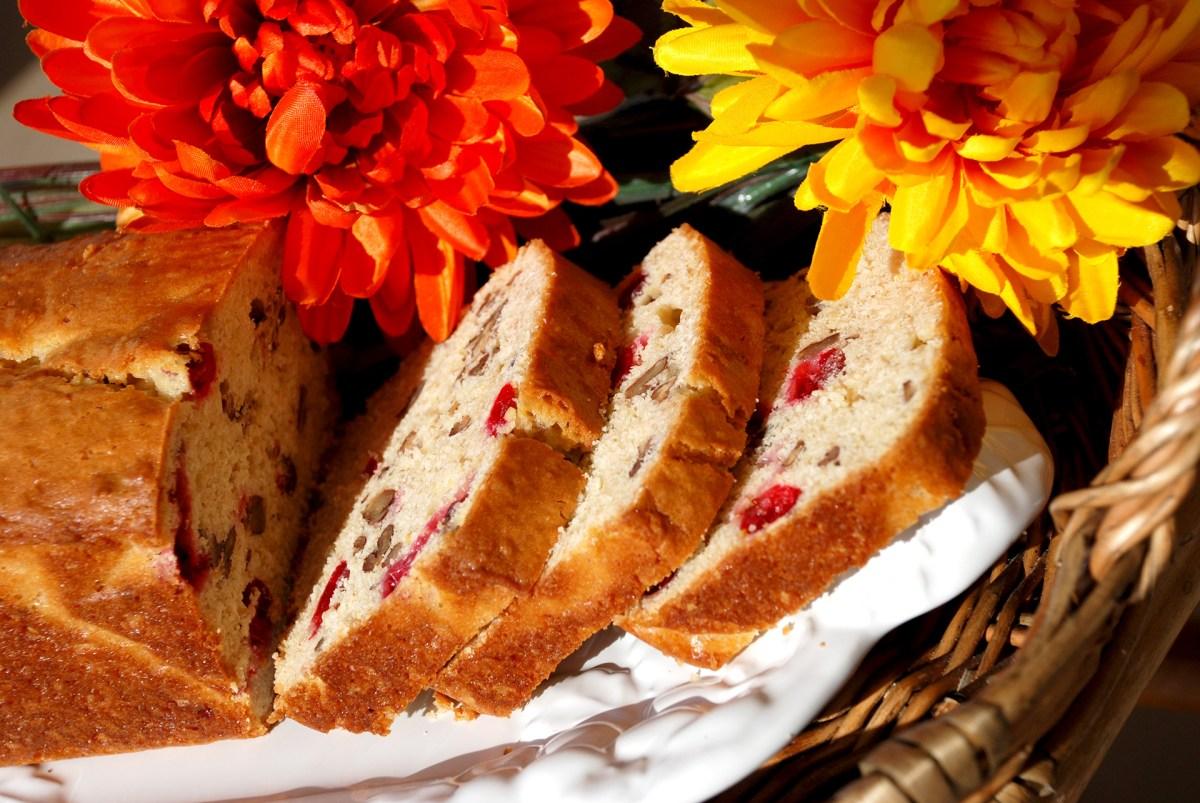Cranberry & Eggnog Bread