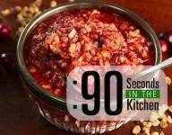 90 Second Cranberry-Orange Relish with Black Walnuts