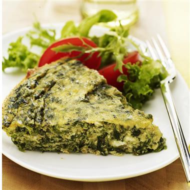Crustless Curried Spinach Tart