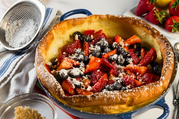 Dutch Baby with Berries and Macadamia Nuts