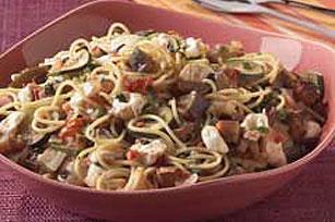 Eggplant Spaghetti with Fresh Mozzarella
