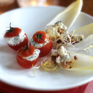 Endive with Gorgonzola Pear and Walnuts