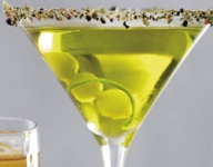 Sake Green Tea Martini with Crushed Peppercorns