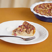 Fig, Walnut and Cranberry Clafouti with Creme Fraiche