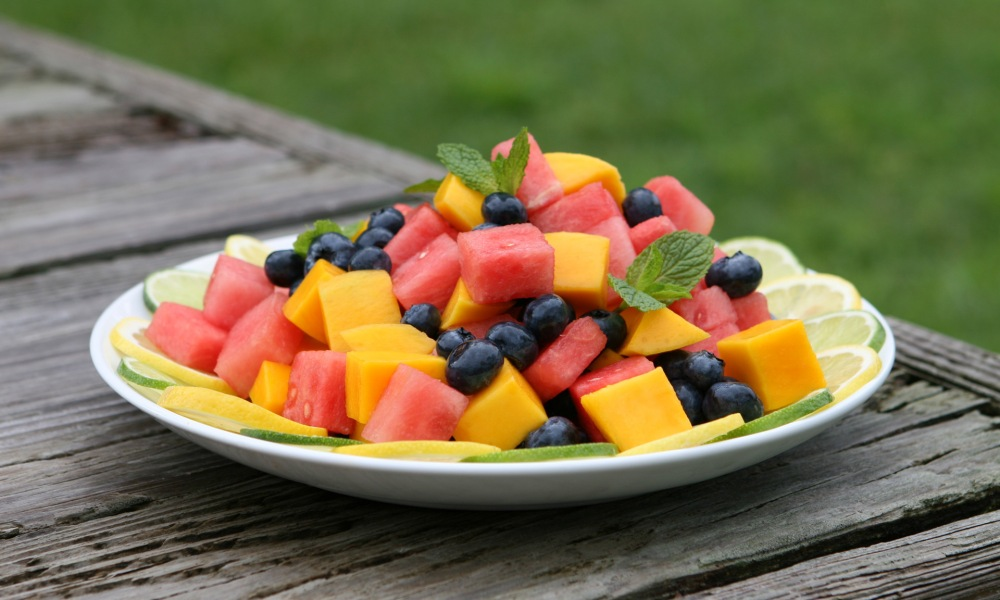 Florida Fruit Salad with Lime and Honey