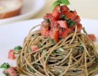 Florida Pesto Pasta with Tomato-Basil Relish