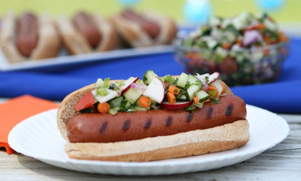 Hot Dogs with Florida Relish
