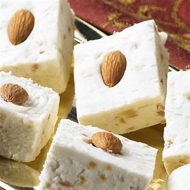 French Vanilla Fudge with Almonds
