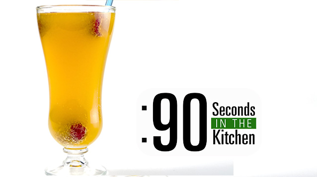 90 Second Fresh Mango Raspberry Bellini