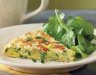 Frittata with Zucchini and Goat Cheese