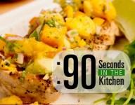 90 Second Garden Peach Salsa