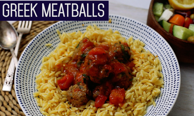 Greek Meatballs with Orzo