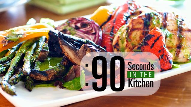 90 Second Grilled Chicken Salad