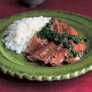 Grilled Flank Steak with Chimichurri Recipe
