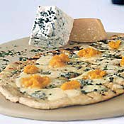 Grilled Pizza Bianca with Pumpkin and Gorgonzola