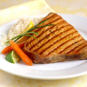 Grilled Ahi Tuna with Sesame Soy Sauce