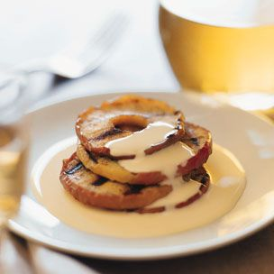 Grilled Apples with Bourbon Crème Anglaise Recipe