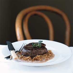 Grilled Beef Filets with Caramelized Shallots Recipe