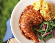 Grilled Chicken with Ancho Barbecue Sauce Recipe