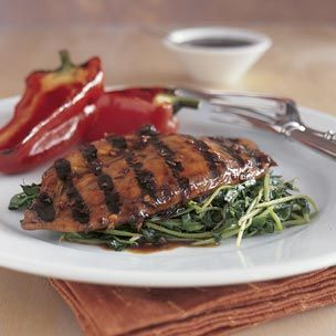 Grilled Chicken with Red Pepper Flakes Sauce