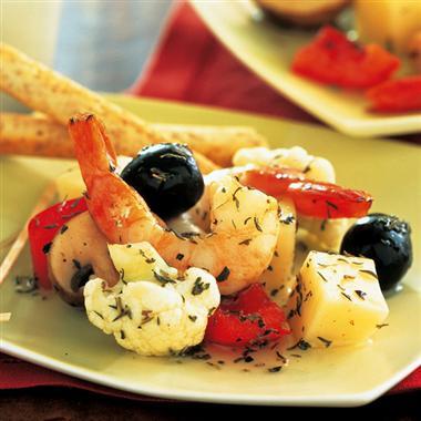 Herbed Shrimp Antipasto