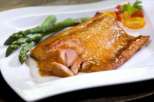 Cedar Planked Salmon with Asian Flavors