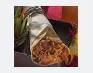 Hot Dog Mexican Rice Wrap