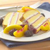 Ice Cream Pound Cake with Fresh Nectarines and Blackberries