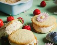 Strawberry Ice Cream Cookies