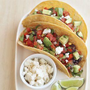 Black Bean Tacos with Avocado Salsa