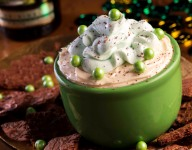 Irish Cream Dip with Brownie Brittle