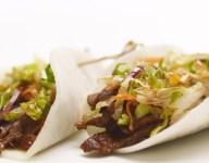 Jicama Wrapped Short Ribs with Asian Pear Slaw