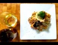 Paella and Simi Chardonnay