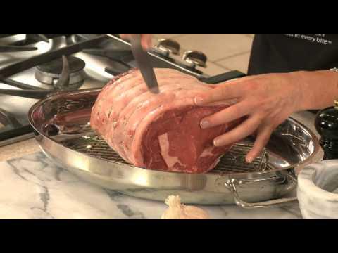 Garlic Studded Roast Beef