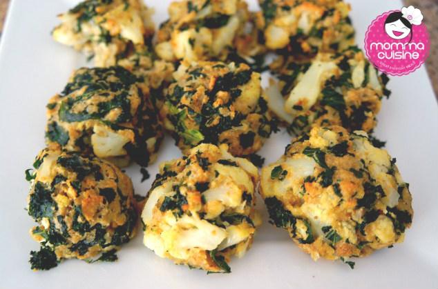 Cauliflower and Kale Bites