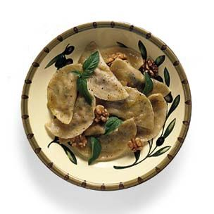 Ligurian Pansotti with Walnut Pesto