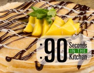 90 Second Mango Curd Crepe Cake