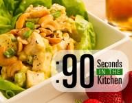 90 Second Mango Curry Chicken Salad