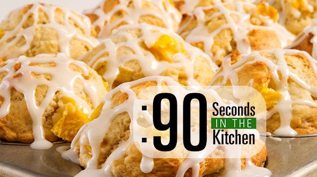 90 Second Mango Doughnut Muffins