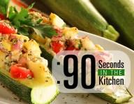 90 Second Mediterranean Stuffed Zucchini