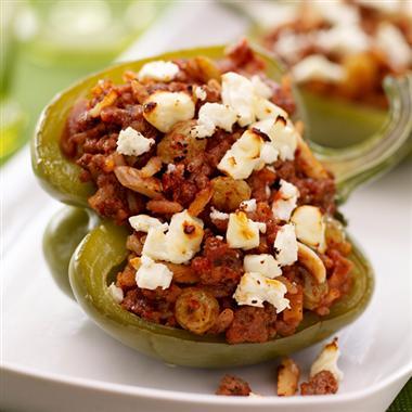 Mediterranean Style Stuffed Peppers Recipe